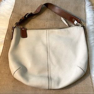 Coach Leather Hobo Bag in Pebbled Cowhide Leather